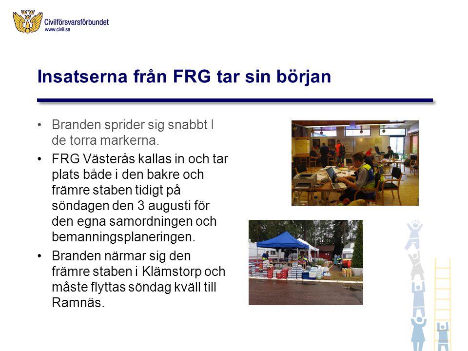 Insatserna från FRG tar sin början