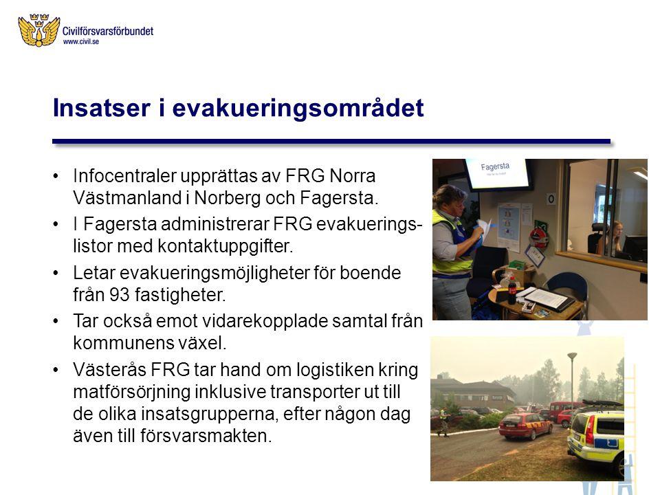 Insatser i evakueringsområdet