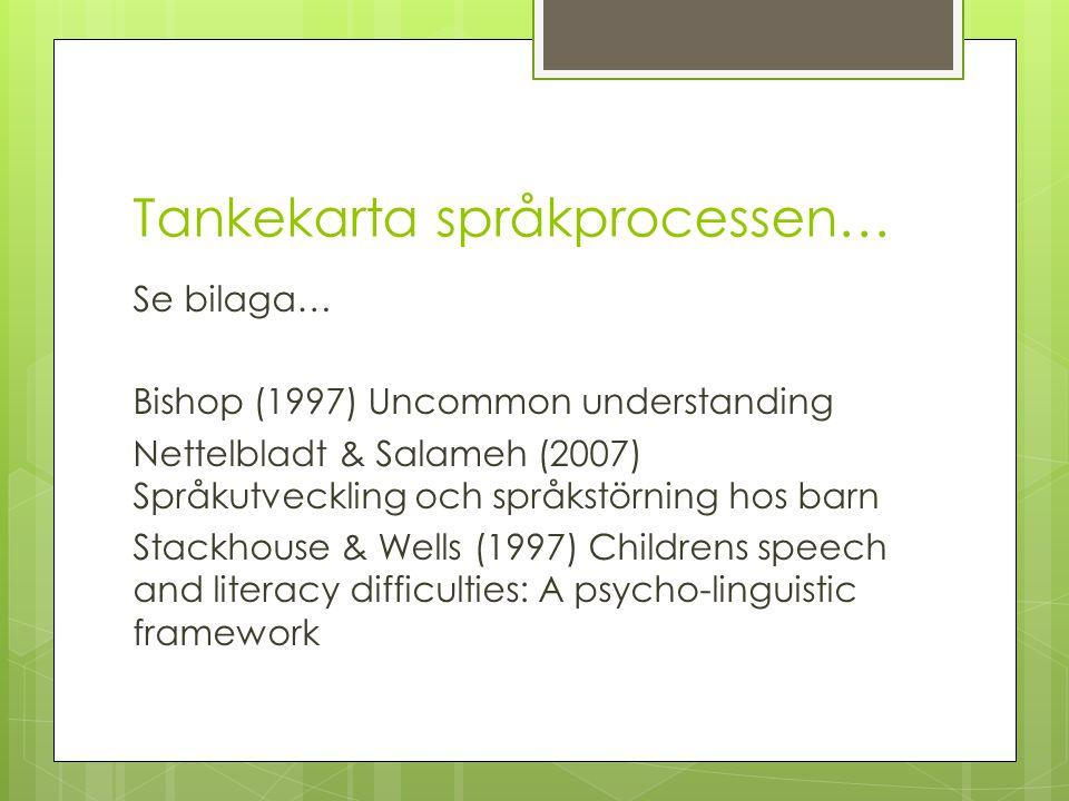 Tankekarta språkprocessen…