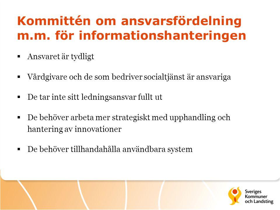 Kommittén om ansvarsfördelning m.m. för informationshanteringen