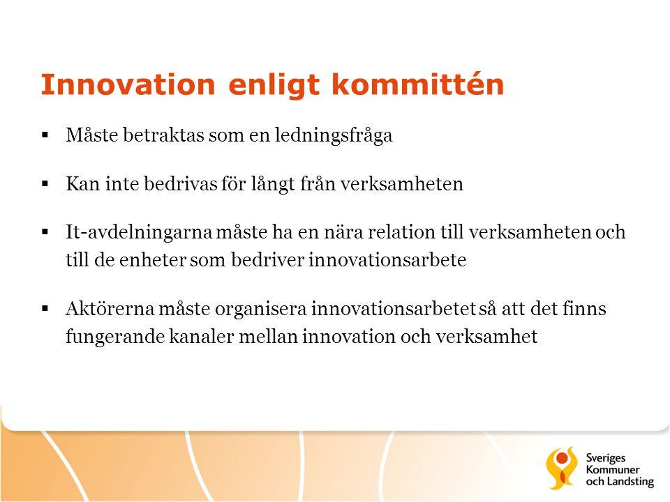 Innovation enligt kommittén