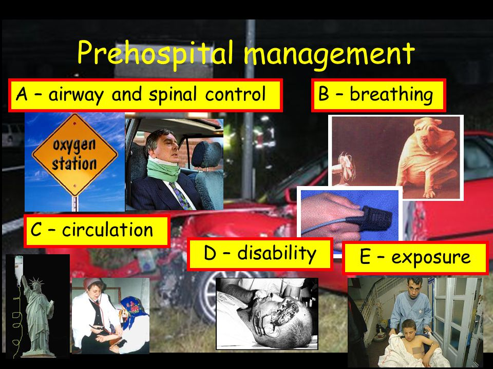Prehospital management
