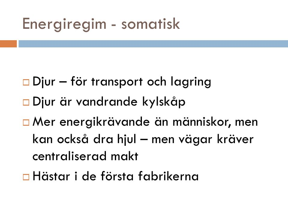 Energiregim - somatisk