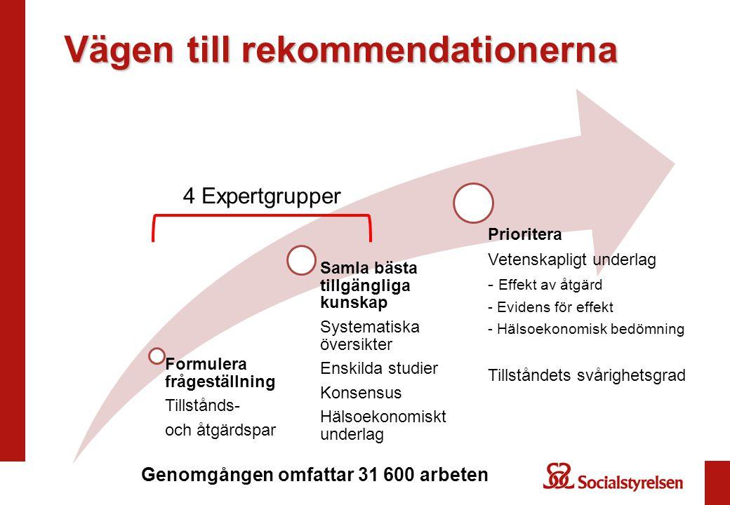Vägen till rekommendationerna