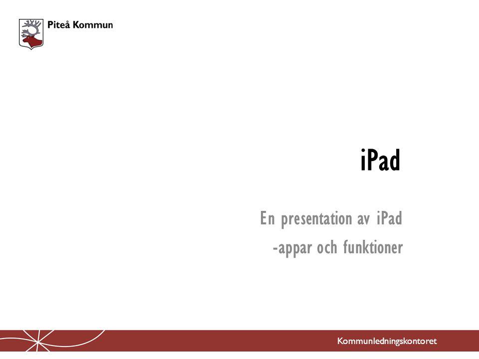 En presentation av iPad -appar och funktioner