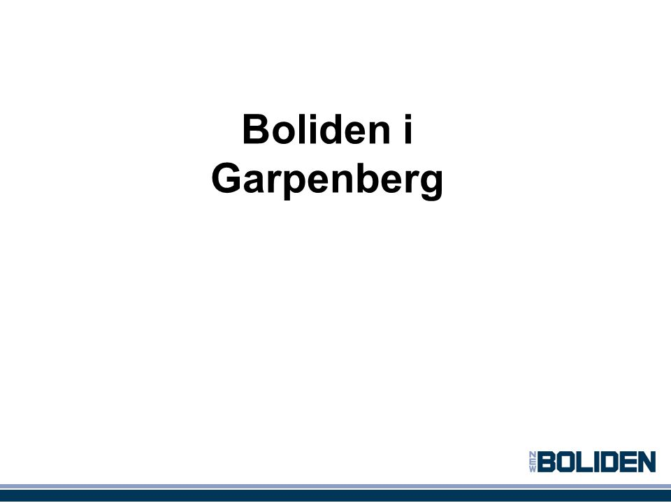 Boliden i Garpenberg