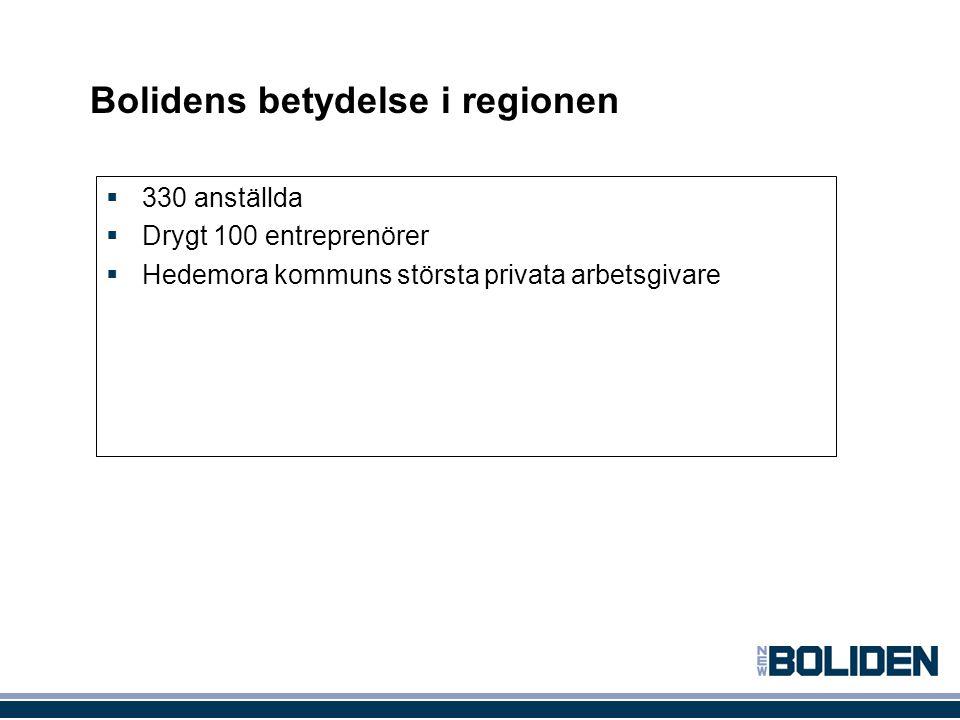 Bolidens betydelse i regionen