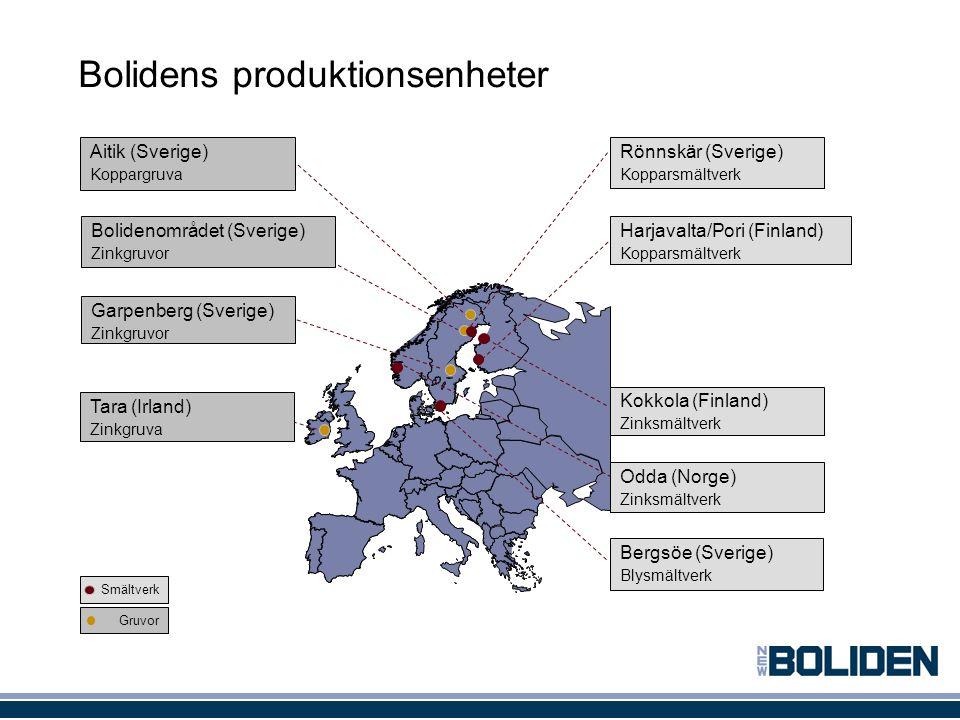Bolidens produktionsenheter