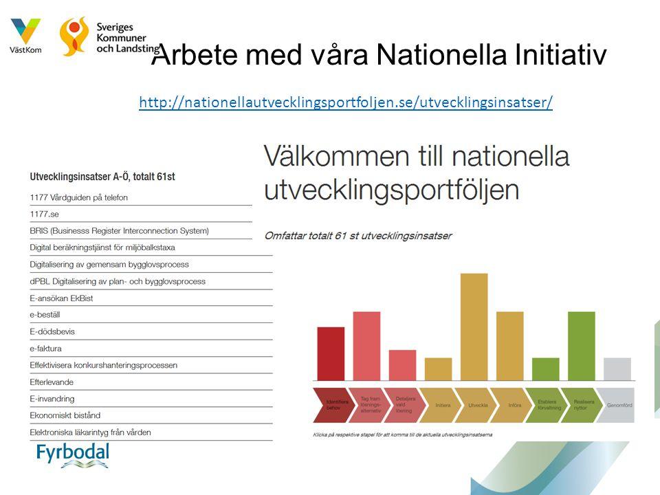 Arbete med våra Nationella Initiativ
