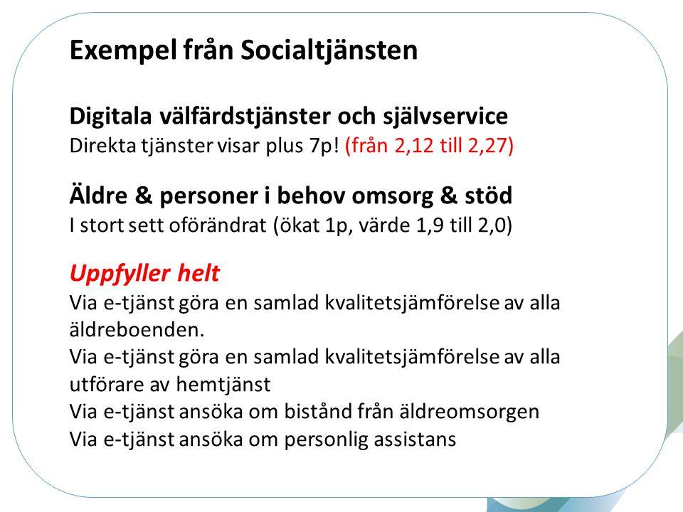 Exempel från Socialtjänsten