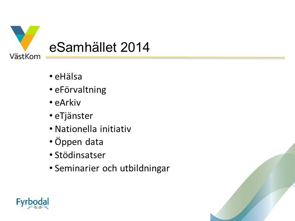 eSamhället 2014 eHälsa eFörvaltning eArkiv eTjänster