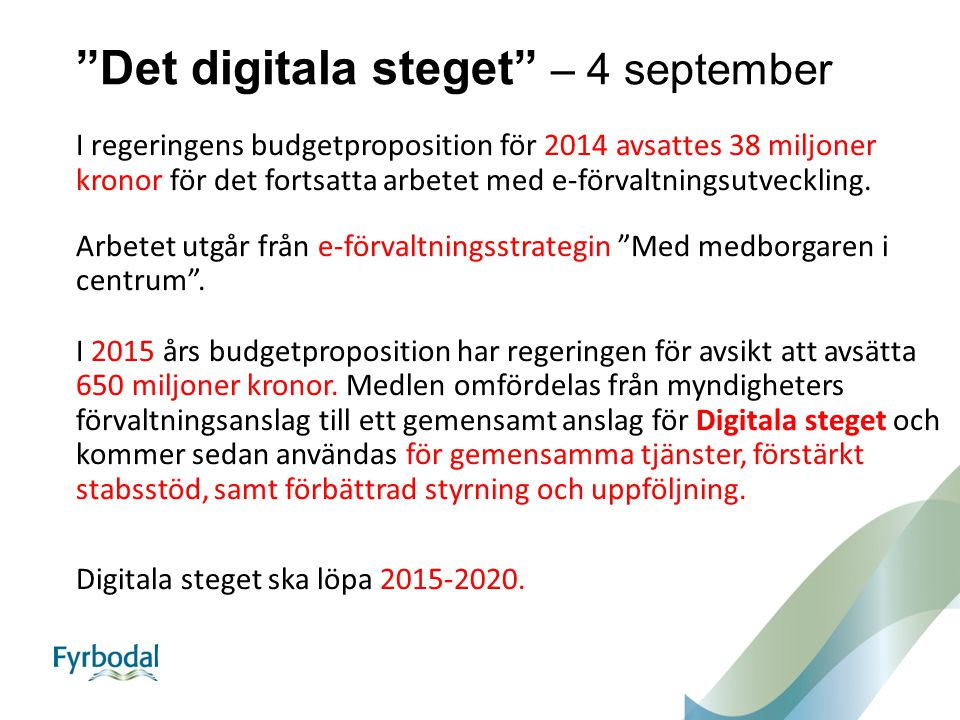 Det digitala steget – 4 september