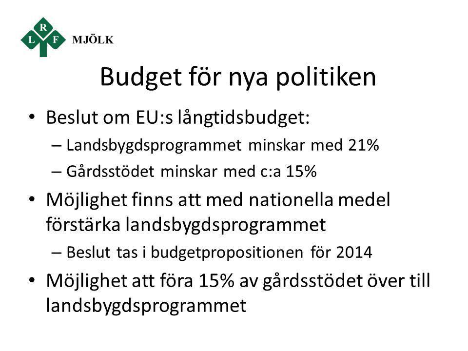 Budget för nya politiken