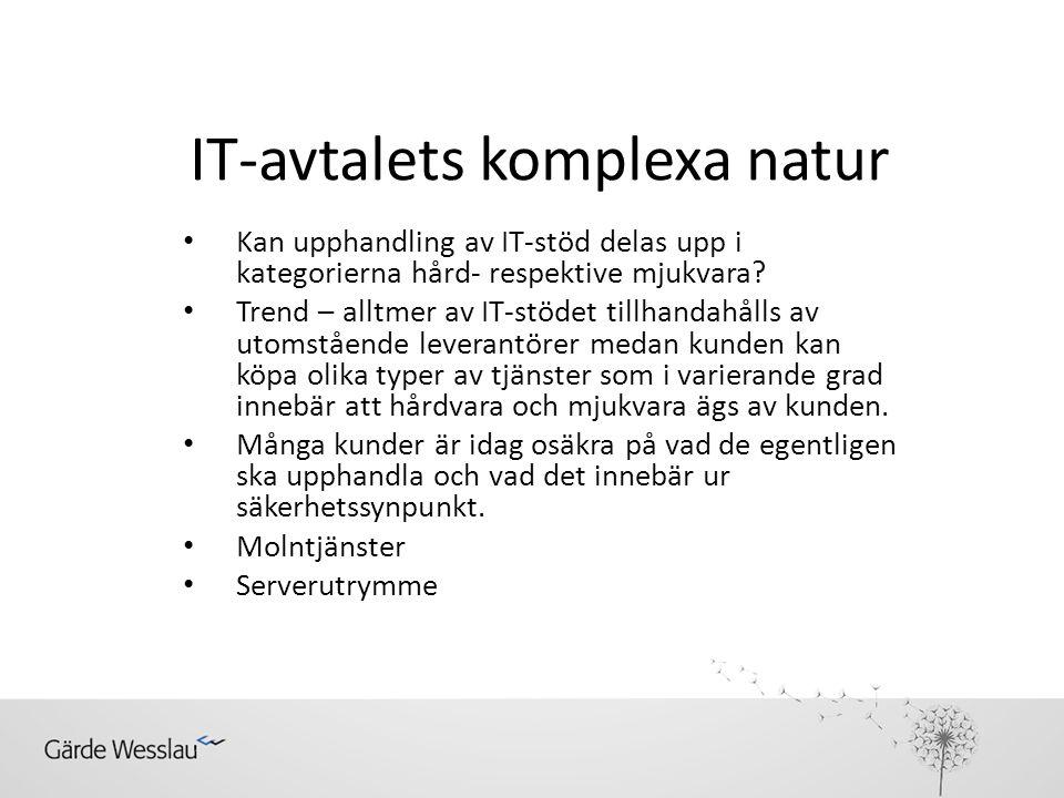 IT-avtalets komplexa natur