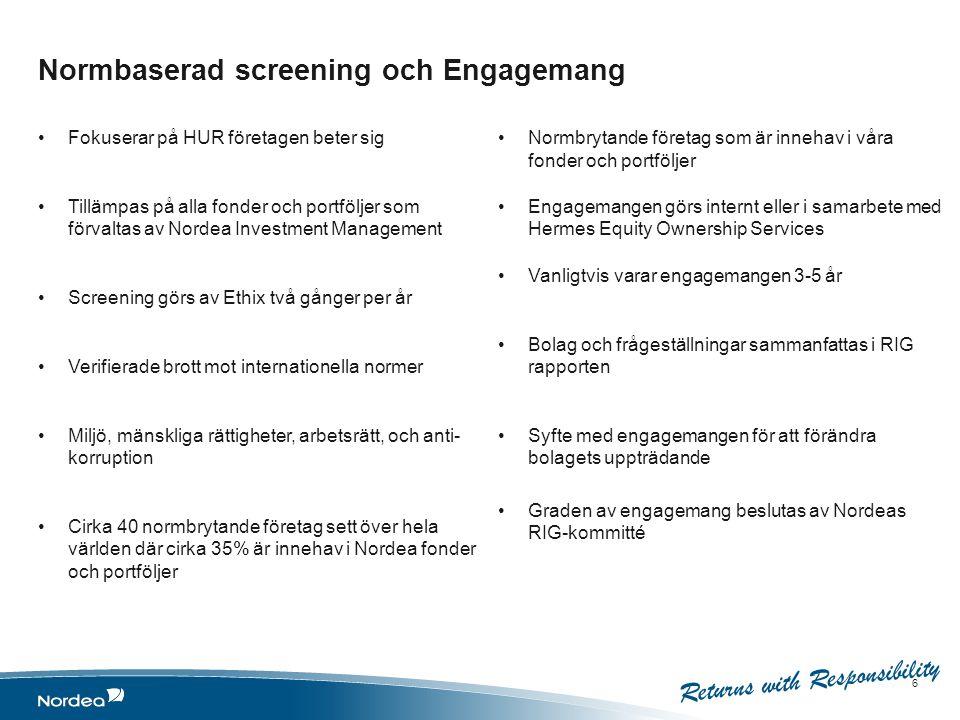 Normbaserad screening och Engagemang