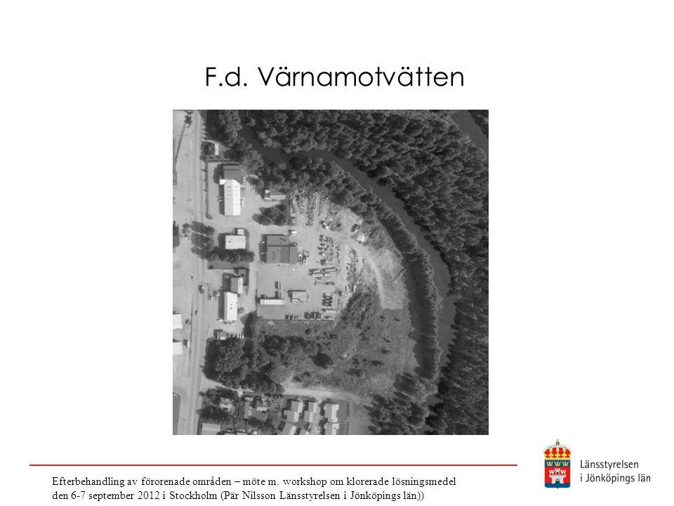 F.d. Värnamotvätten Efterbehandling av förorenade områden – möte m. workshop om klorerade lösningsmedel.