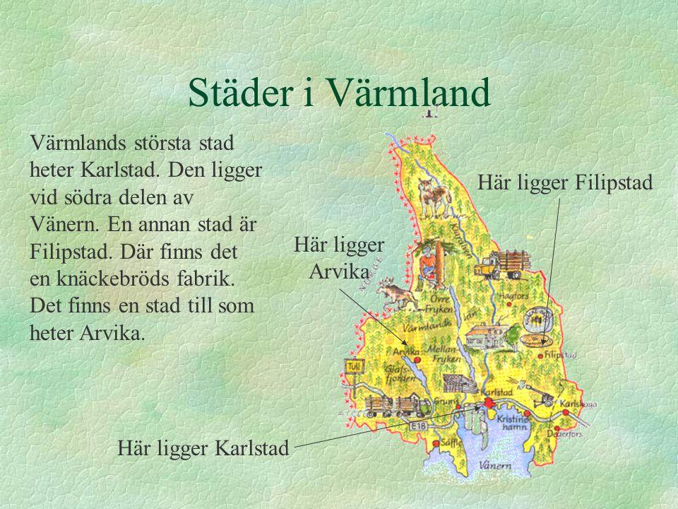 Städer i Värmland
