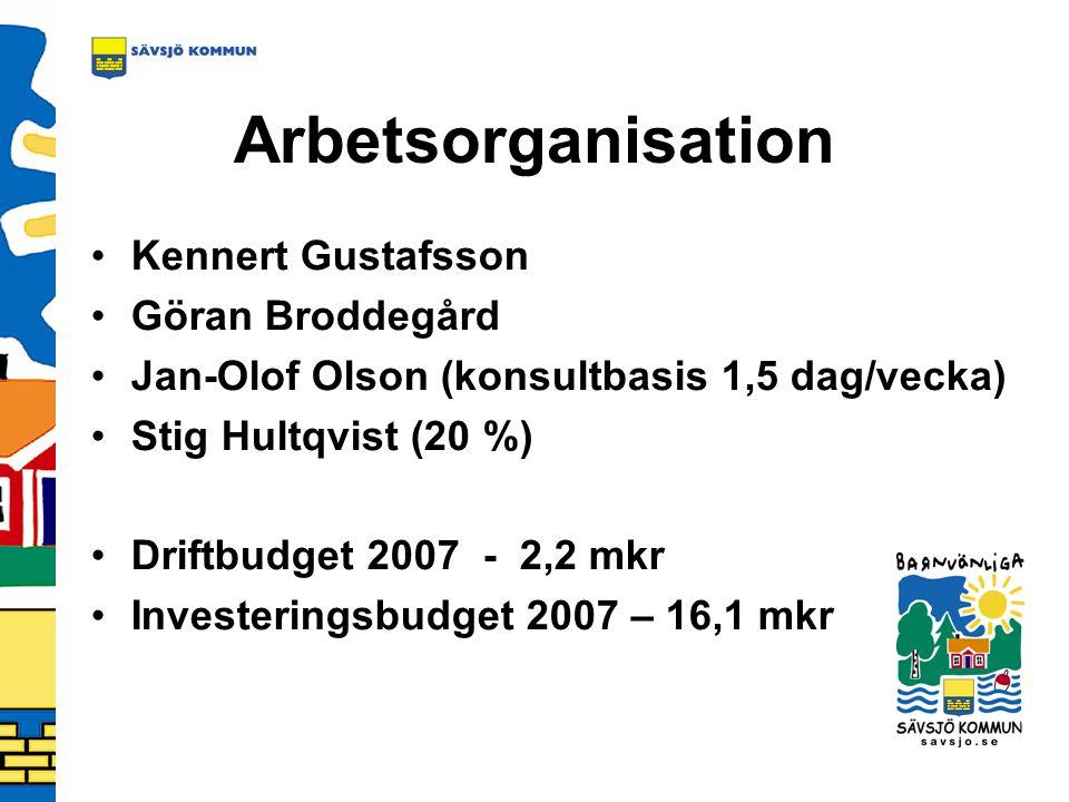 Arbetsorganisation Kennert Gustafsson Göran Broddegård
