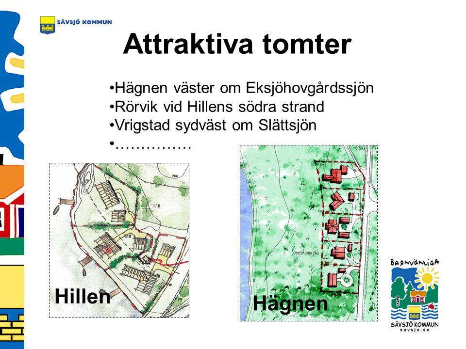 Attraktiva tomter Hillen Hägnen Hägnen väster om Eksjöhovgårdssjön