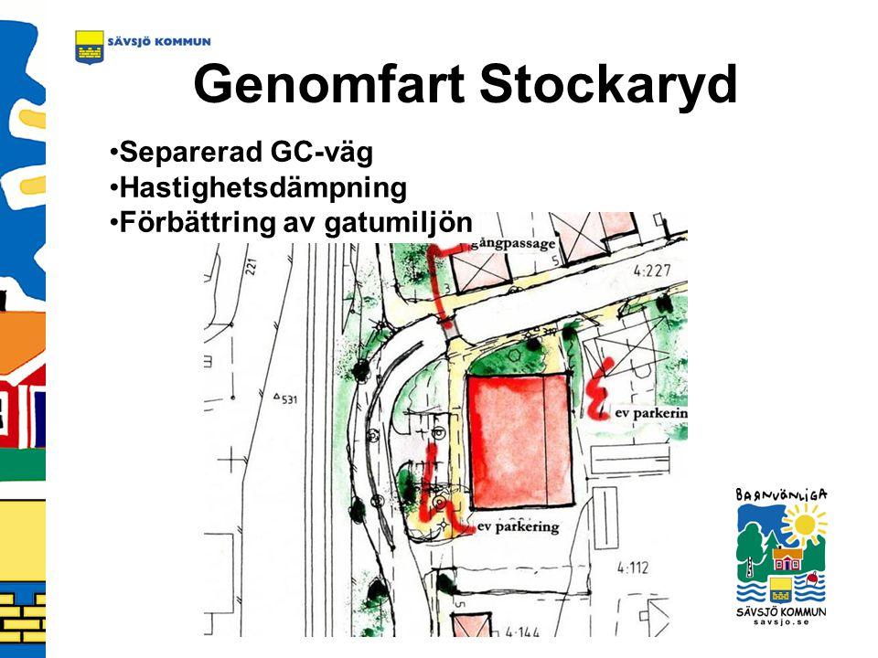 Genomfart Stockaryd Separerad GC-väg Hastighetsdämpning