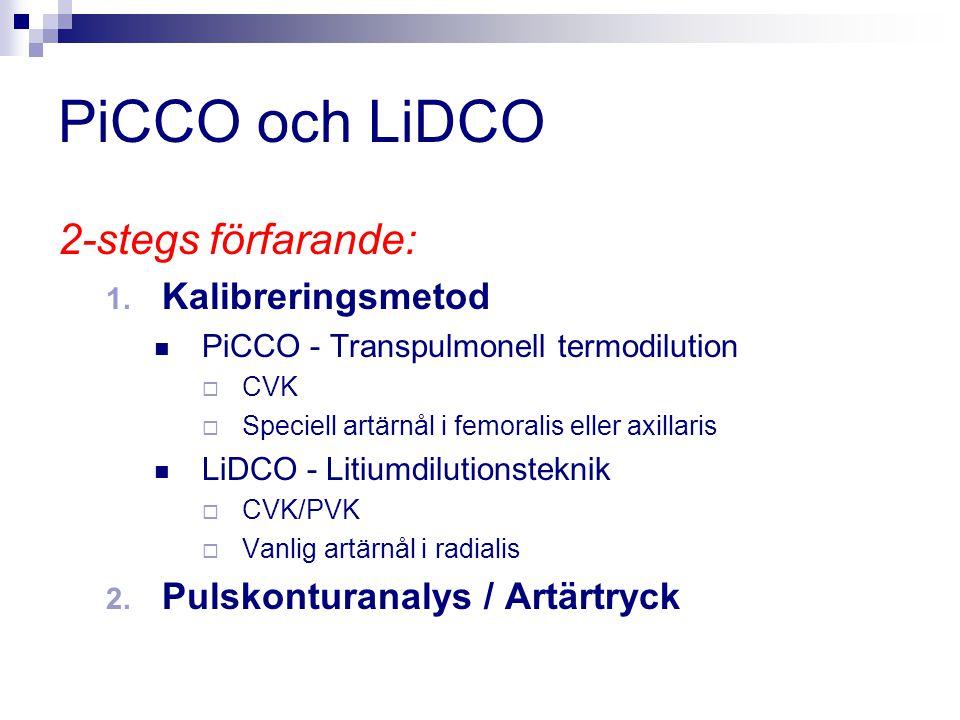 PiCCO och LiDCO 2-stegs förfarande: Kalibreringsmetod