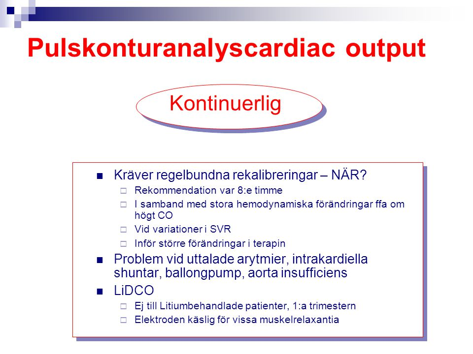 Pulskonturanalyscardiac output