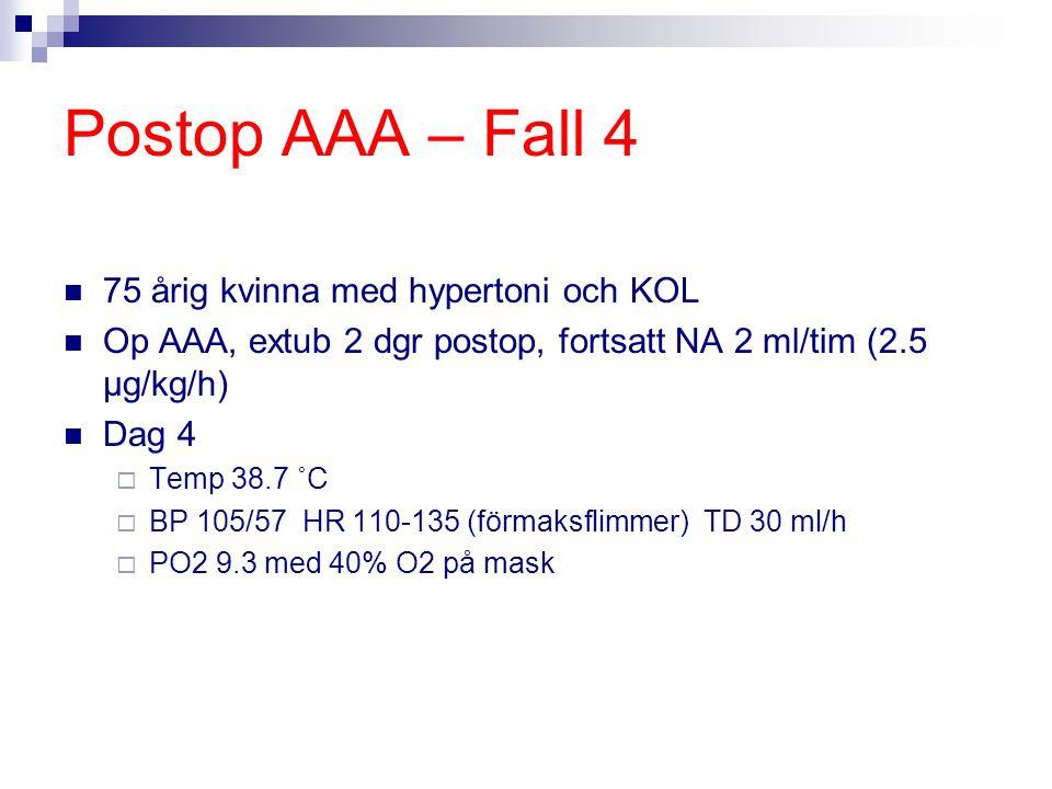 Postop AAA – Fall 4 75 årig kvinna med hypertoni och KOL