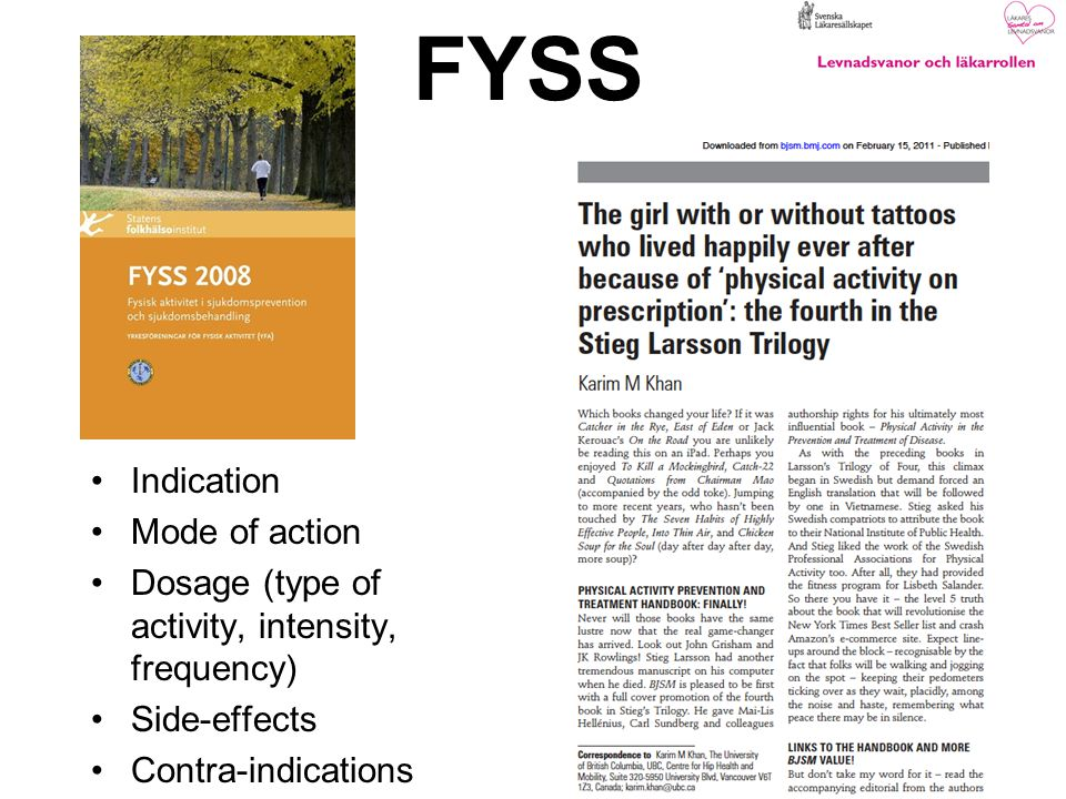 FYSS Indication Mode of action