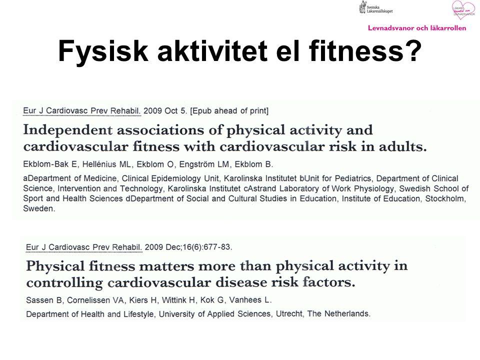 Fysisk aktivitet el fitness