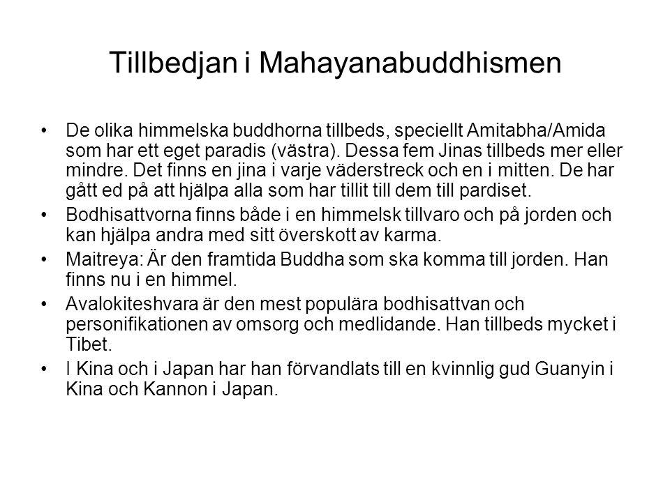 Tillbedjan i Mahayanabuddhismen