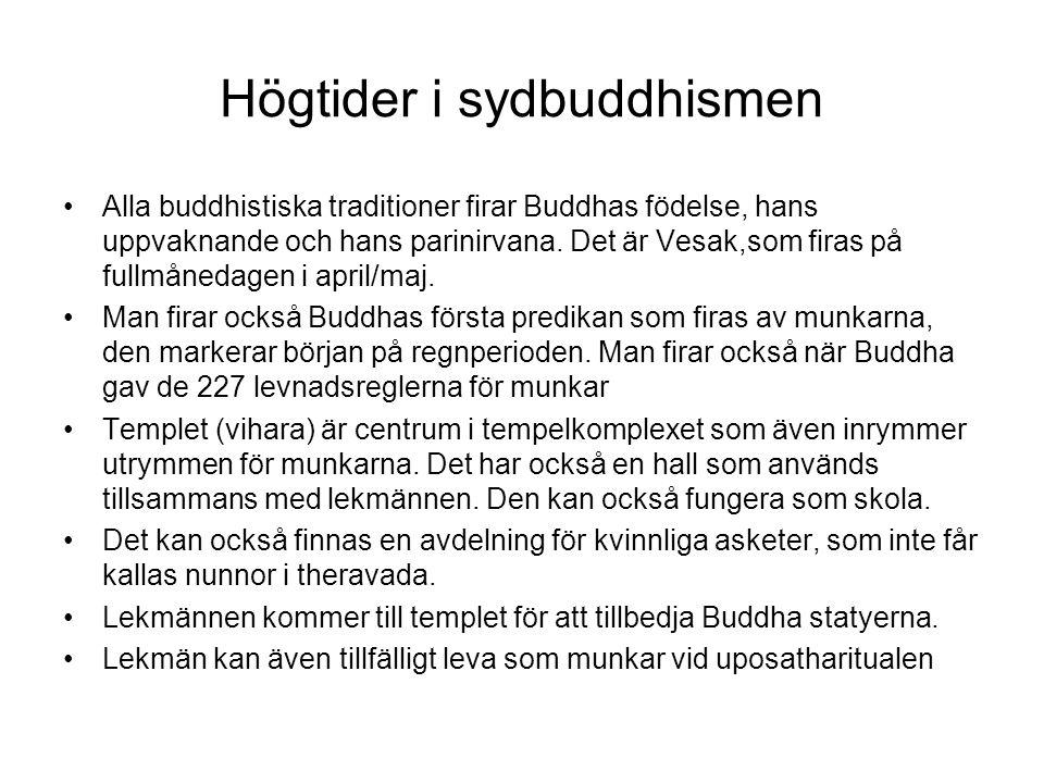 Högtider i sydbuddhismen