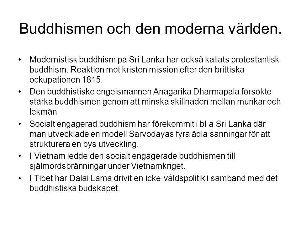 Buddhismen och den moderna världen.