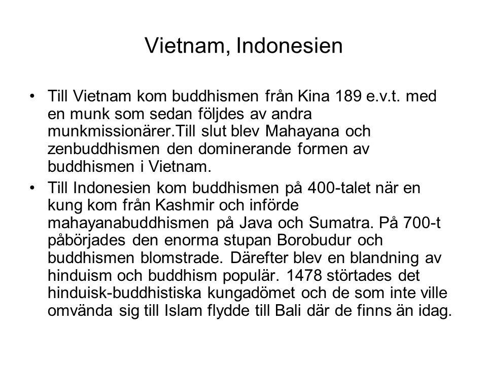 Vietnam, Indonesien