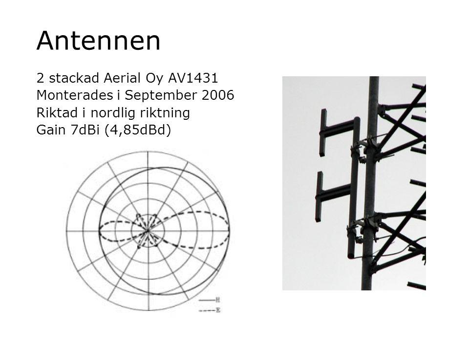 Antennen 2 stackad Aerial Oy AV1431 Monterades i September 2006