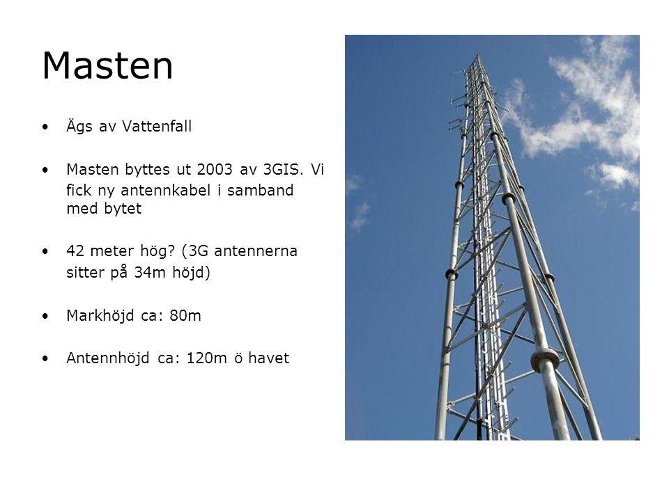 Masten Ägs av Vattenfall Masten byttes ut 2003 av 3GIS. Vi