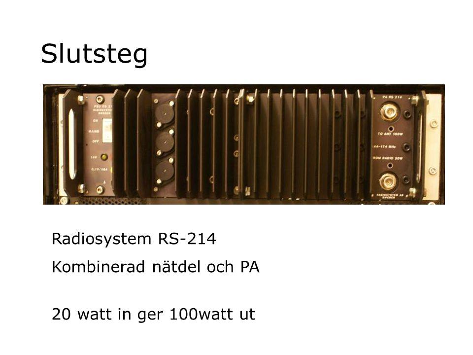 Slutsteg Radiosystem RS-214 Kombinerad nätdel och PA
