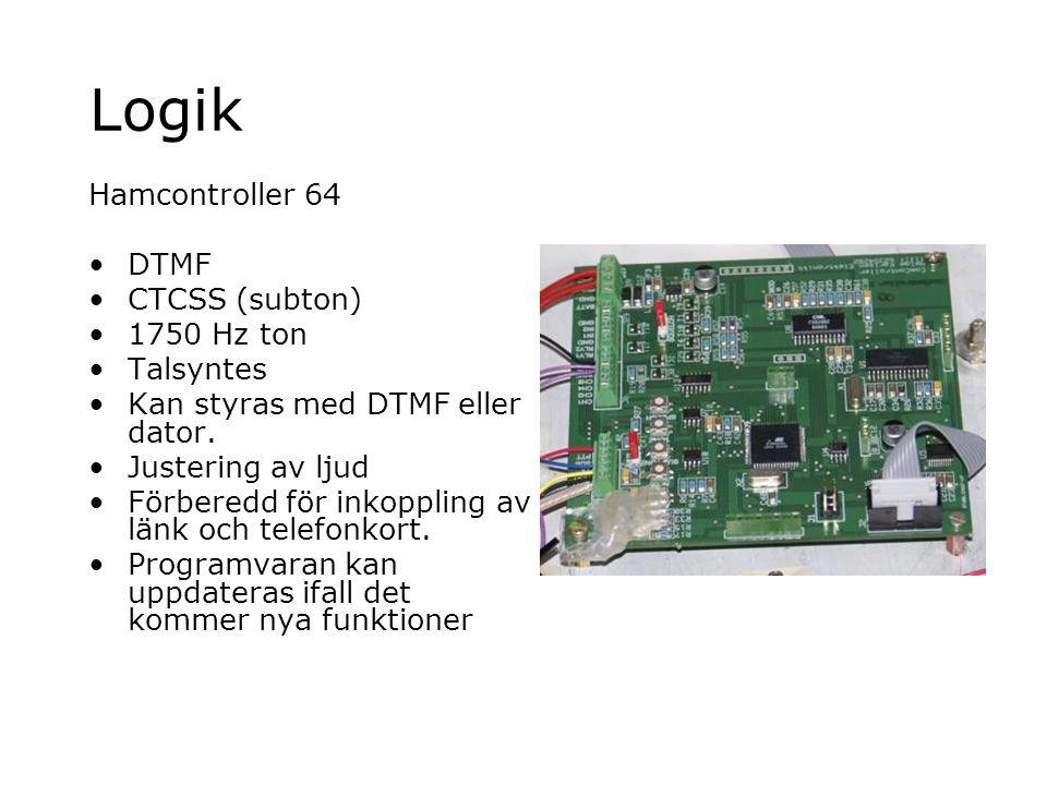 Logik Hamcontroller 64 DTMF CTCSS (subton) 1750 Hz ton Talsyntes