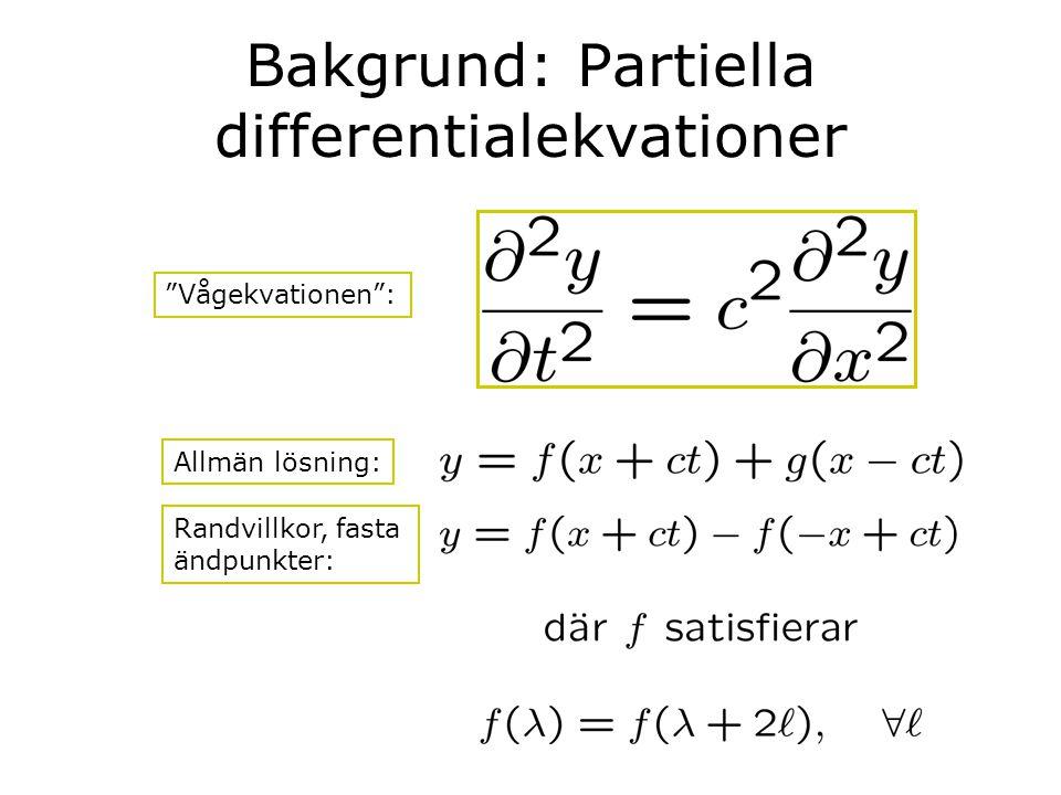 Bakgrund: Partiella differentialekvationer