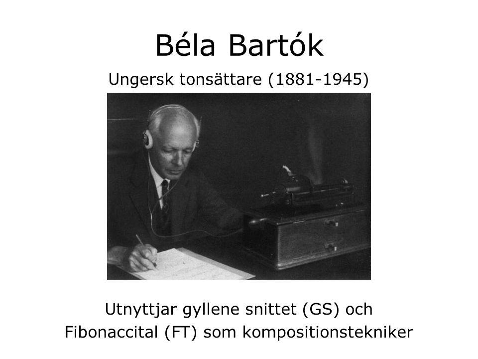 Béla Bartók Ungersk tonsättare (1881-1945)