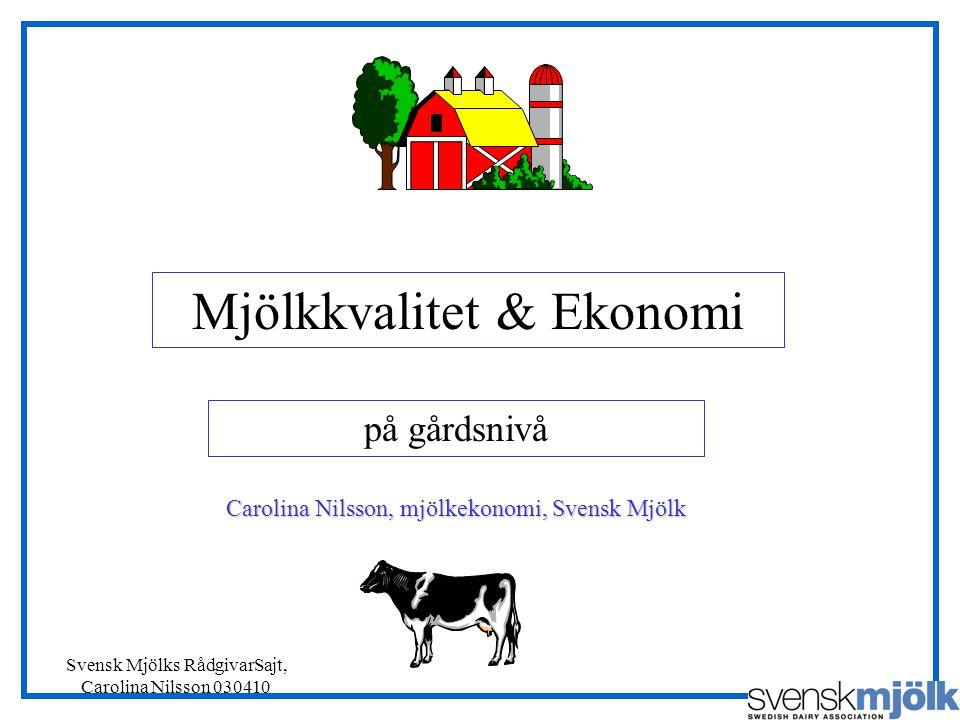 Mjölkkvalitet & Ekonomi