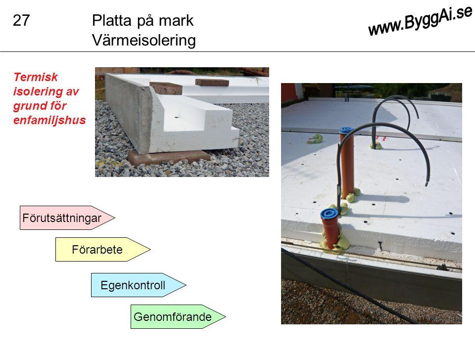 27 Platta på mark Värmeisolering www.ByggAi.se