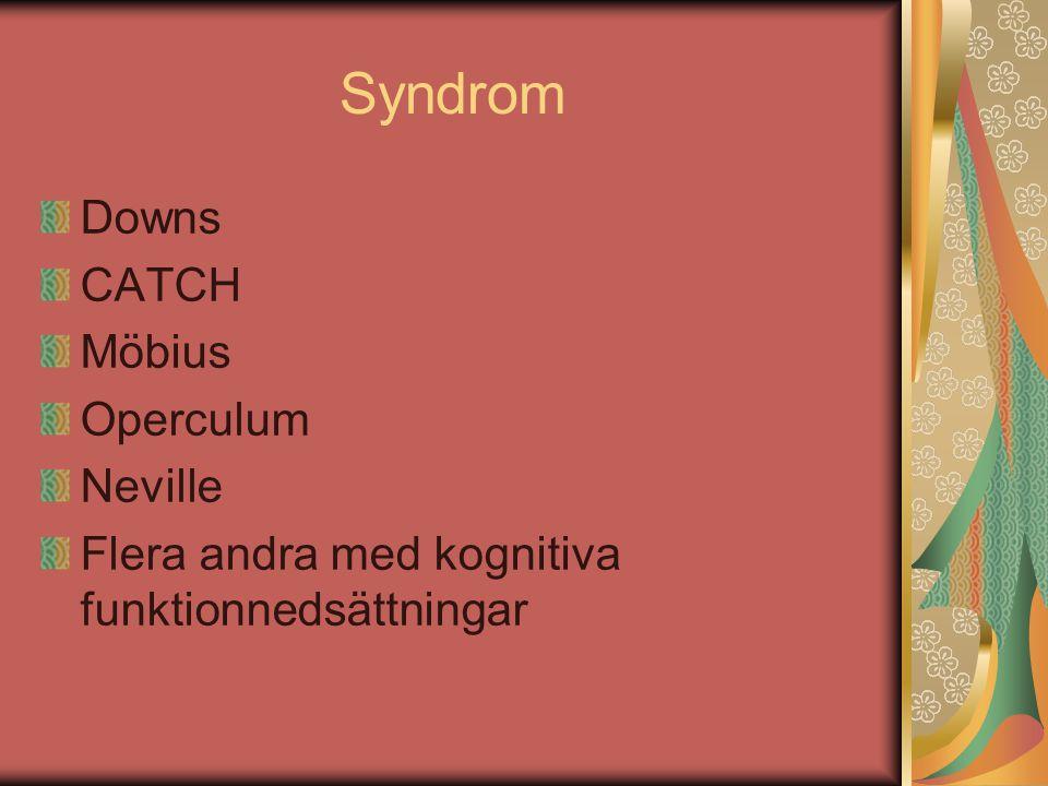 Syndrom Downs CATCH Möbius Operculum Neville
