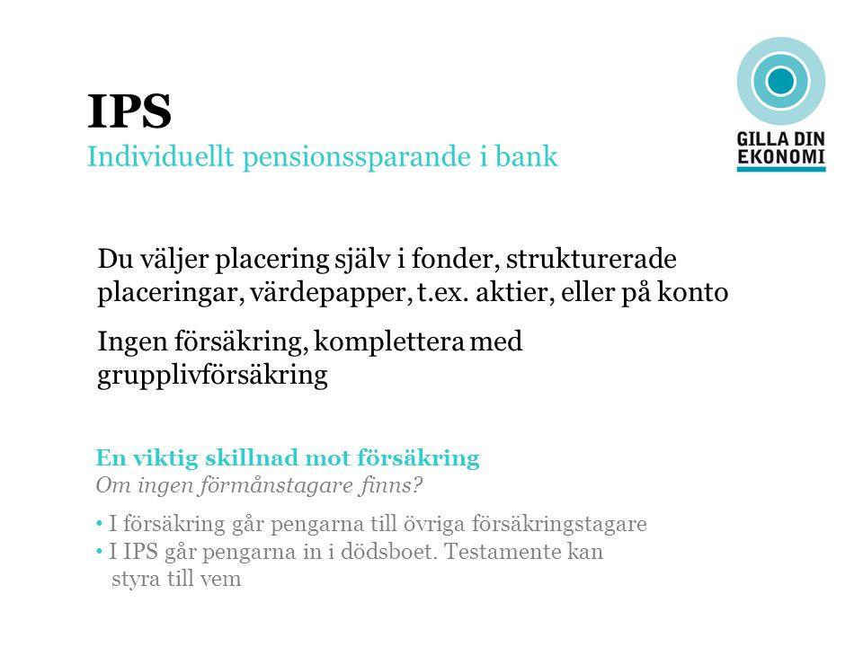 IPS Individuellt pensionssparande i bank