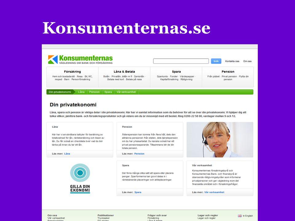 Konsumenternas.se KONSUMENTERNAS.SE