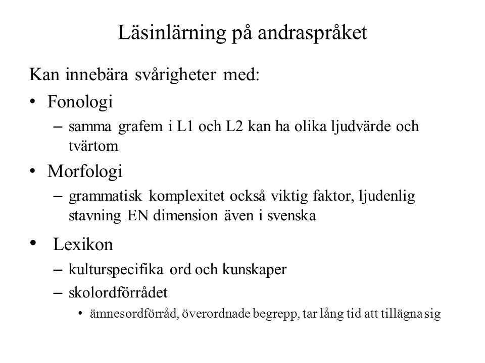Läsinlärning på andraspråket