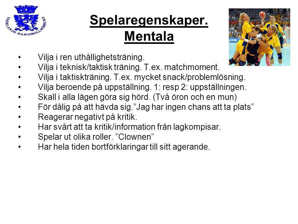 Spelaregenskaper. Mentala