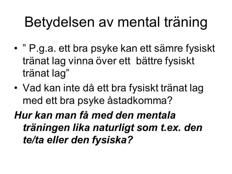 Betydelsen av mental träning