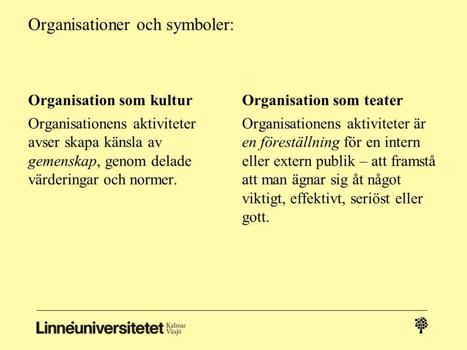 Organisationer och symboler: