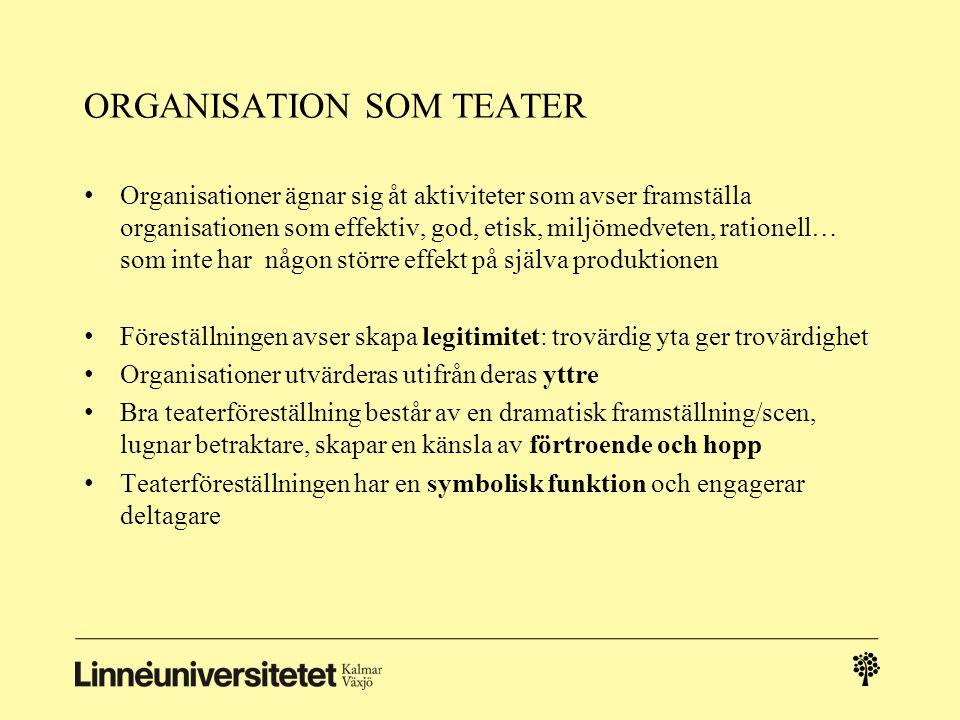 ORGANISATION SOM TEATER