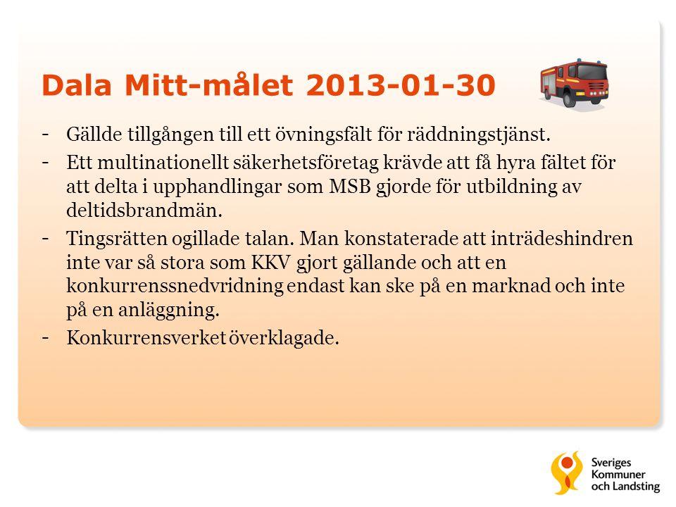 Dala Mitt-målet 2013-01-30 Gällde tillgången till ett övningsfält för räddningstjänst.